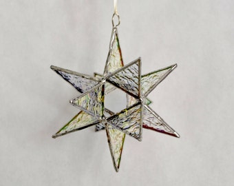 12 Point Moravian Star. Iridescent Star. 4""