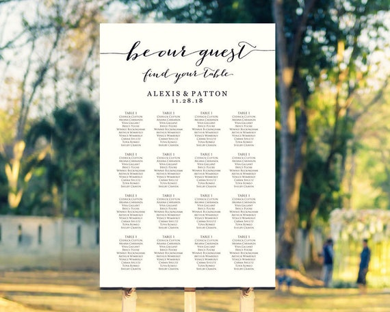 guest seating chart - Ayla.quiztrivia.co