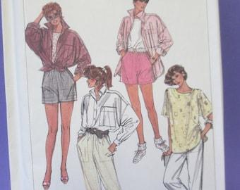 Vintage Simplicity blouse, shorts, and pants 7281 pattern  Size O 12,14-16 misses  uncut