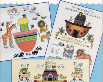 40 Days and Nights Noah's Ark Cross Stitch Chart Booklet 85 Designs Linda Gillum
