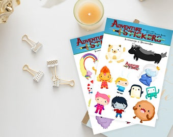 Stickers / Adventure Time Sticker / Adventure Time with Finn and Jake / Fionna and Cake / Planner Stickers / Erin Condren / Happy Planner