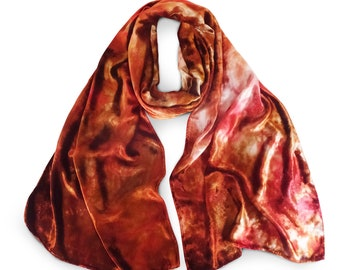 Orange velvet scarf, velvet scarf, trending now, velvet scarves, hot selling items, womens scarves, brown velvet scarf, fall velvet scarf