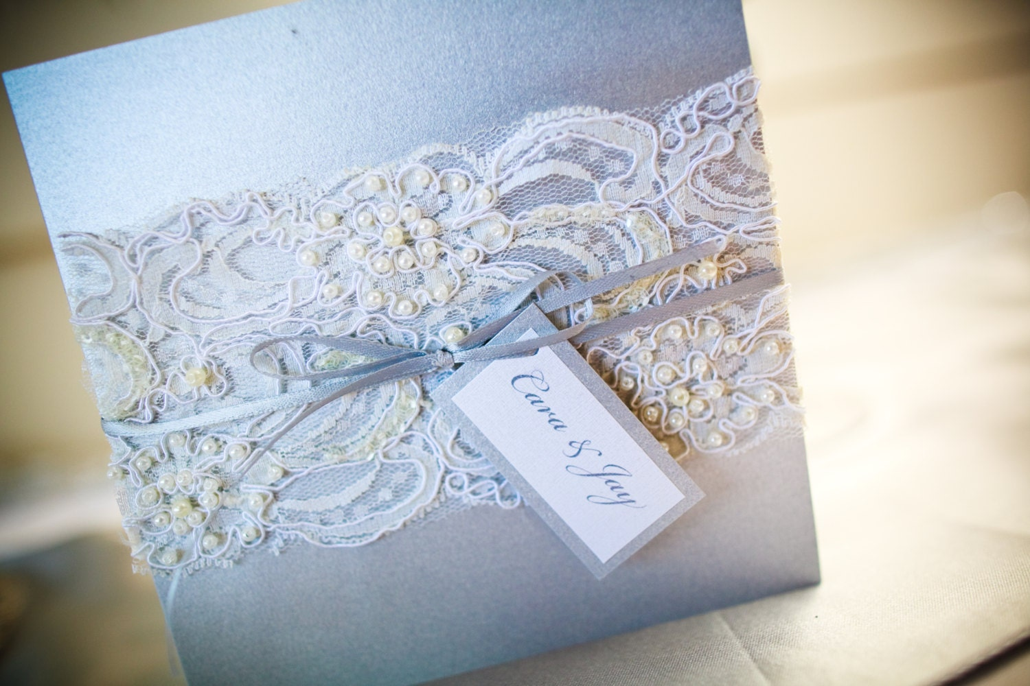 zoom - Vintage Lace Wedding Invitations