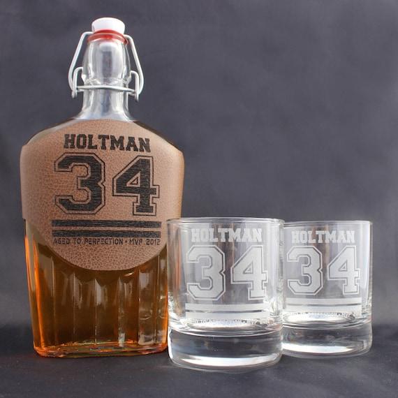 Verres À Whisky Personnalisés Et Fiole Cadeau Pour Petit Ami