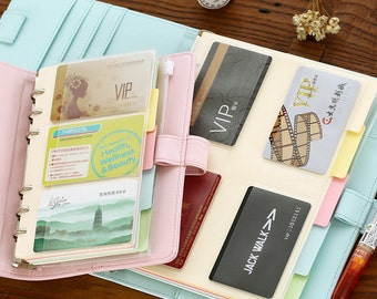 Card Holder, A5 A6 Pouch, stickers storage, insert, Card Organizer, credit card holder, Plastic Holder, Name card, Refill