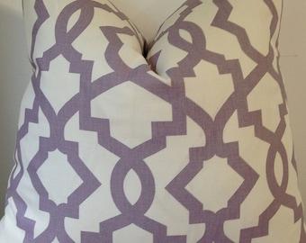 Pillow cover Zipper Closure Sheffield Light Purple Off White Pillow Cover Decorative Throw Pillow 12x16,16x16, 18x18, 20x20