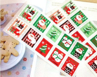 1 Board with 10 self-adhesive stamps, letter to Santa, Christmas Stickers