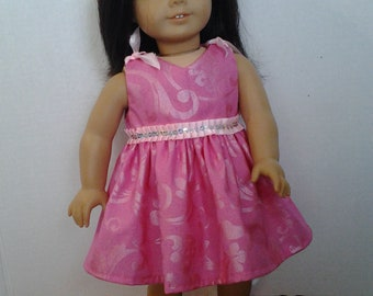"""Pink special occasion dress for 18"""" dolls"""