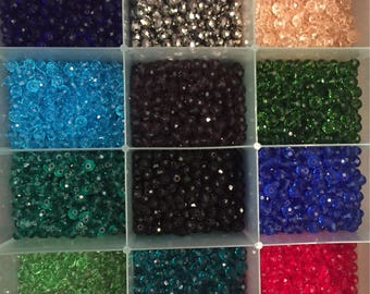 Sale!!Sale! Beads. 6 mm glass beads Bulk beads   (3 strands-pcs  lot) 3 pk 3 days only -(lowest ever) this is a deal you can't pass up
