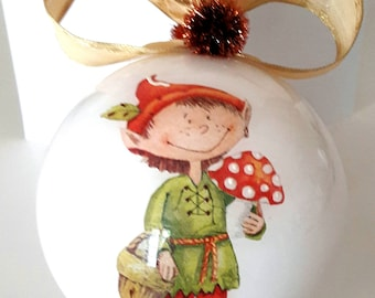 Christmas ball or personalized decoration, Christmas decoration, Christmas tree