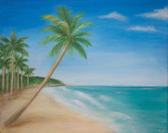 Palm Tree Beach Landscape