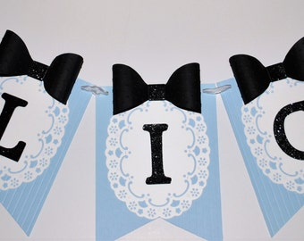 Alice in Wonderland Banner Customizable--Wonderland Party Decor--Mad Hatter Tea Party--Wonderland Baby Shower--Nursery Decor