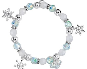 Winter Snowflake Stretch Bracelet
