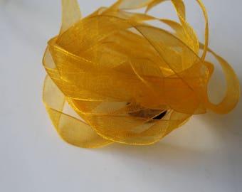 10 meters clementine - orange - 1 cm organza Ribbon-