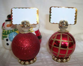 CHOOSE YOUR COLOR Christmas Ornament Place Card Holders