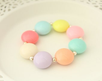 Easter Necklace - Easter Bracelet - Easter Jewelry - Easter Photography Props - Easter Girls Bracelet - Easter Holiday Gift - Easter Basket