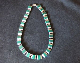 Mexican Silver and malachite necklace