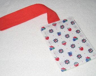Quilt motif luggage tag