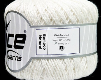 Bamboo Natural, Ice Yarn, bamboo, natural yarn, natural fiber