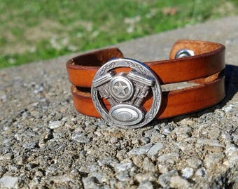 1in Wide V-Twin Concho Bracelet