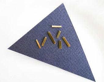 DADA. Shiny Sticks. 14K Gold Stud Earrings. Asymmetric Pair. Handmade Gold Earrings. Gold Bars. Minimal Post Earrings. Unisex Jewelry. Pair.