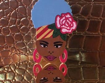 Ethnic Woman Lapel Pin