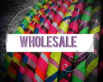 WHOLESALE 10 Dance & Exercise Hula Hoop COLLAPSIBLE or Full Size Hoola Hoop Bulk Wedding party favors weighted class