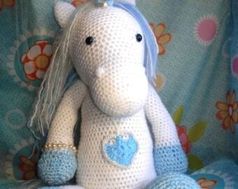 Blue Unicorn Amigurumi (49 cm)