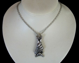 BAT pendant necklace fruitbat FLYING FOX fruit bat