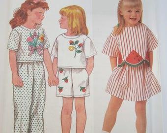 Simplicity 9730 Child's Skirt Pants Shorts & Top Sizes 3 - 6X Uncut