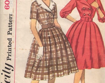 Vintage 1960's Simplicity Pattern #3278 junior and misses' dress & detachable Collar/ vintage sewing pattern