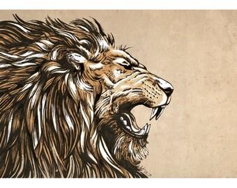 The Roar - Lion Art Print