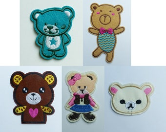 fusible patch, badge * bear Teddy bear * 5.6 11.2 cm