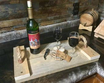 Wood carrying trays ( coasters included)