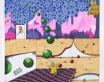 LIMTED EDITION PRINT Dancing Wasteland Original Watercolor Signed Artwork