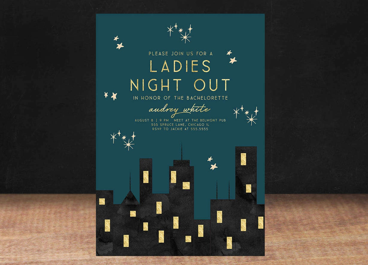 CITY BACHELORETTE PARTY Invitation Ladies Night Out