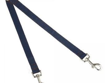 EzeLink Pet Dog Easy Snap Link Lead, Brace Lead Coupler, Splitter 19mm Small Dogs Soft Cushion Web 22-34cm