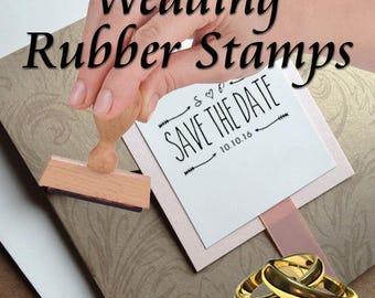 Wedding Invitation Rubber Stamp - Custom Stamp - Personalized Wedding Stamp