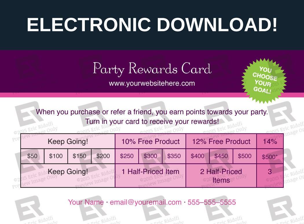 younique party rewards card
