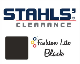 "15"" x 5 Yards - Stahls' Fashion-LITE - Smooth- Craft Roll - Iron-on  Heat Transfer Vinyl - HTV - Black"