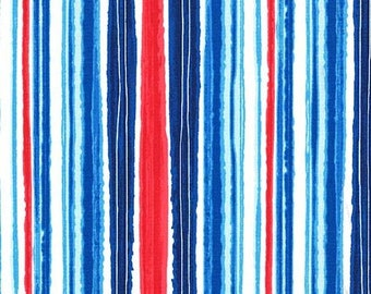 Michael Miller - Just Shellin - Cabana Stripe - DC8173 CABA D - 100% cotton fabric - Fabric by the yard(s)