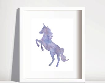 unicorn gift,downloadable art, prints, art prints, galaxy print, watercolour print, wall art, prints for bed room, birthday gifts, home