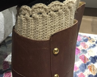 SPESIAL ORDER! Warm Crocheted Boot Cuffs.