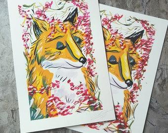 Fox Berries Print