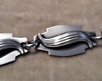 Sterling Silver Wave Bracelet