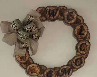 Rustic Wood Wreath 10% of sale price is donated to St Jude Childrens Hospital