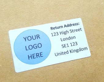 Personalised Return Address Labels - Logo Stickers, Envelope Seals, Address Stickers, Business Branding, Packaging