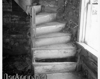 Glowing Stairs, hand made 8x10 silver gelatin print
