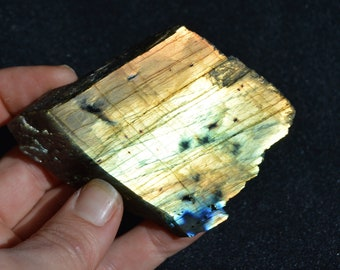 Labradorite Flashy Gold Semi Polished piece