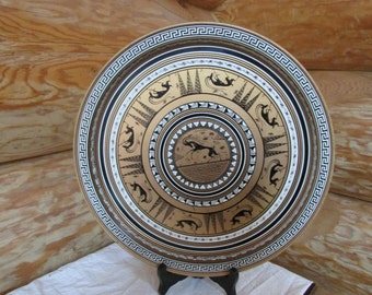 Vintage Grecian Round Tin